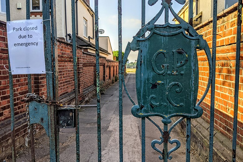 Locked gates, covid