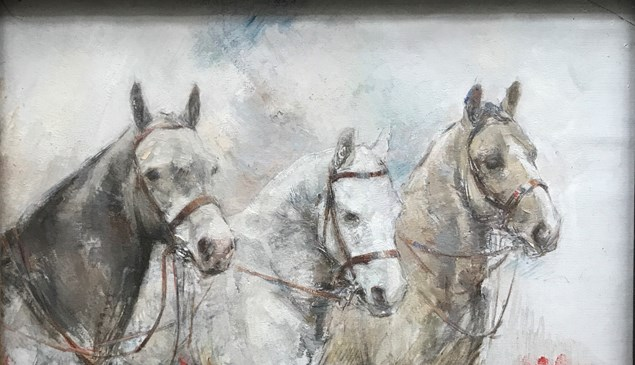 Three Ponies, Madeline Green, © Private Collection